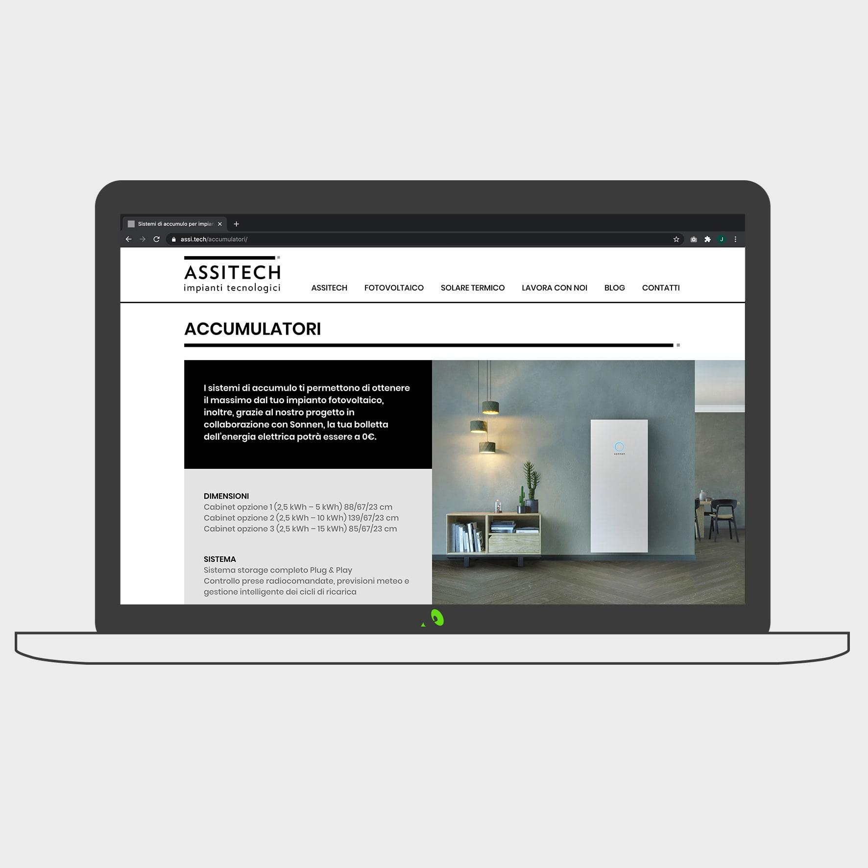 sito web pagina interna