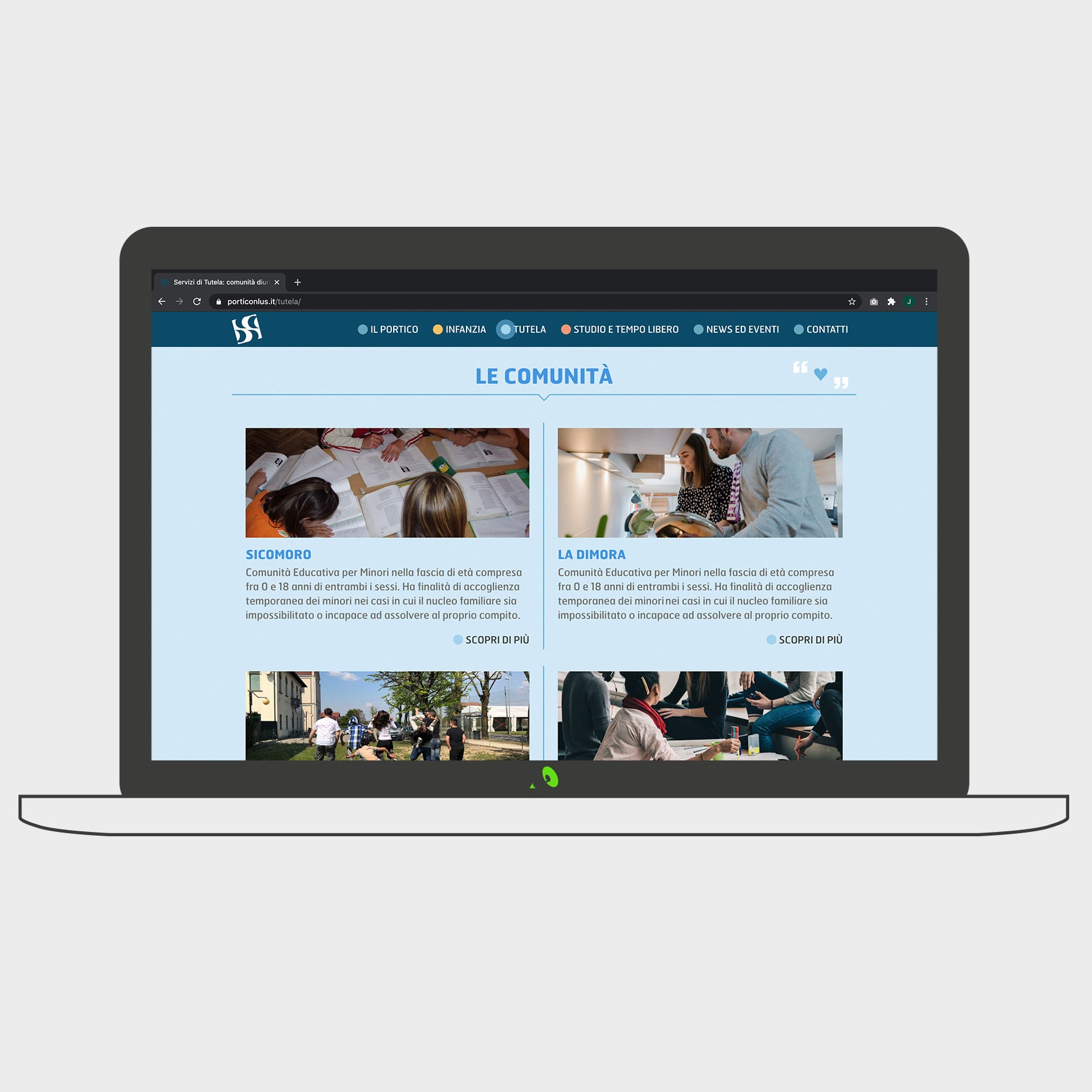 sito realizzato per il cliente