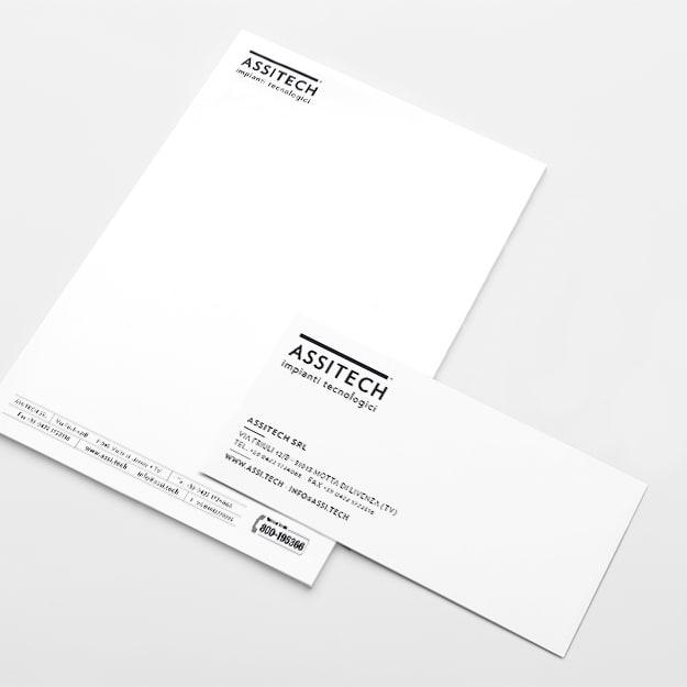 foglio busta per immagine coordinata cliente